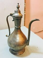 Old Original Antique Hand Crafted Brass Big Wine Pot Jar Ewer Surai