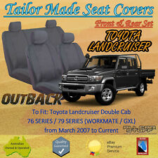 Ilana OUT6831CHA Front and Rear Seat Cover for Toyota Landcruiser - Charcoal
