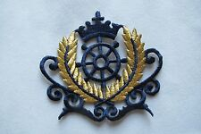 #3734 Marine Wheel,Crown,Military Insignia Embroidery Iron On Applique Patch