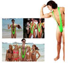 Borat Mankini Costume Green Swimsuit Mens Swimwear Thong Sexy Stag Dress Up New