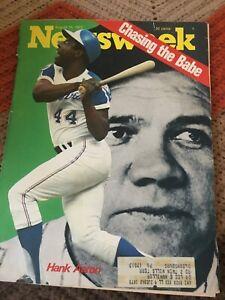 Newsweek Magazine August 13 1973 Hank Aaron Babe Ruth Cover
