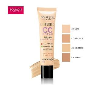 Bourjois 123 Perfect CC Cream 30 ml/1 oz SPF 10 UV Screen Coverage Foundation