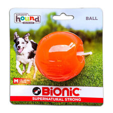 Bionic Ball Orange Durable Dog Treat Toy Medium   Strong Tough Hard Chew Floats