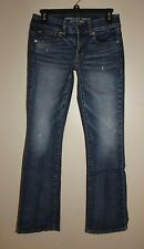 AMERICAN EAGLE KICK BOOT LOW RISE STRETCH JEANS SIZE 2 SHORT
