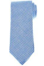 Isaia Linen Tie Blue Geometric 06TI0298 $230