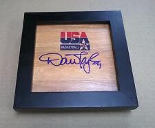Dan Majerle Phoenix Suns USA Basketball Dream Team Signed + Framed Logo Floor
