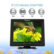 "8"" TFT LCD Audio Video Colour Monitor Screen VGA BNC HDMI For CCTV Security DVR"
