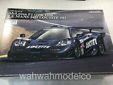 Aoshima 07457 1/24 McLaren F1 GTR 1998 Le Mans 24H LOCTITE #41 Cartograf Decal