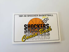 RS20 Wichita State Univ 1991/92 Men's Basketball Pocket Schedule - Coca Cola