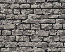 3D REALISTIC GREY DRY STONE WALL BRICK FEATURE WALLPAPER A.S.CREATION 9079-29
