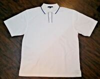 Port Authority Signature Polo Men's Size XL White and Blue