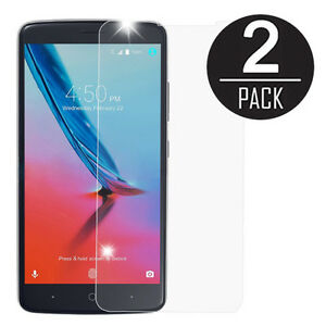 2X Tempered Glass Screen Protector for ZTE Max XL Blade Max 3 Max Blue N9560