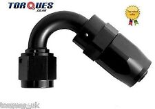 AN -20 (AN20 AN 20) 120 Degree Fast Flow Hose Fitting In Stealth Black