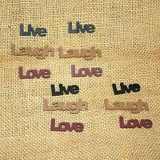 Live Laugh Love Wooden Words Bowl Filler Set of 4 Home Decor