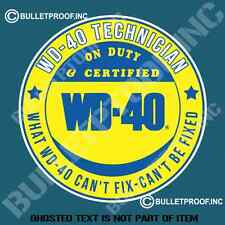 WD-40 WD 40 TECHNICIAN DECAL STICKER RETRO HOT ROD RAT ROD VINTAGE STICKERS