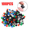 100pcs Tactile Push Button Switch Momentary Tact & Cap 12x12x7.3mm Assorted Kit