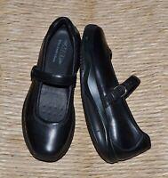NEW MBT Women's $144 SIRIMA Black Leather Mary Jane Toning Rocker Shoe 41/ US 10