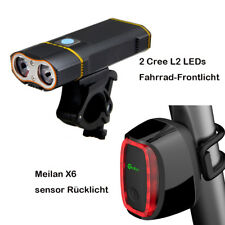 LED Fahrradlampe Set Super Hell Fahrradbeleuchtung und intelligentes Rücklicht