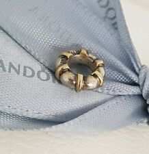 Authentic Pandora Two Tone Silver 14k Gold Seattle Spacer 790266 Retired