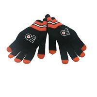 Philadelphia Flyers NHL Reebok Youth Boys (8-20) OSFM Winter Gloves Mitts New