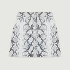 445$ Maje Leather short skirt snake style pyton skin size M 38 FR NEW