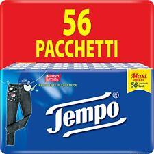Fazzolettini Tempo 56 Pacchetti da 9 Fazzoletti 4 Veli Resistenti in Lavatrice