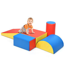 5-Piece Set Climb and Crawl Activity Play Set Safe Foam Blocks Soft Climber Red
