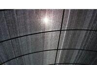 Shade Net 60% 6'x20' 120sqf Black Color Shade Cloth Sun Net, Shade Mesh Fabric