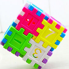DIY Blocks Square Educational Toy Assembly Children Building Block Toys Math Tb