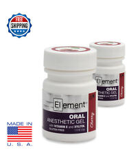 2 JARS ELEMENT 20% Benzocaine Topical Anesthetic CHERRY Tattoo Piercing