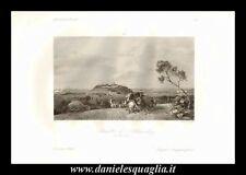 JOHANNISBERG NAUHEIM BATTAGLIA 1762 GUERRA DEI SETTE ANNI STAMPA ORIGINALE 1842