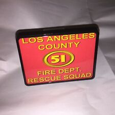 La County Station 51 fire fighter emergency Rescue Squad Trailer Hitch Cover A