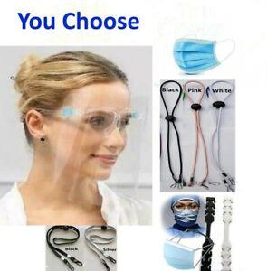Face Shield Glasses Mask Protector Guard Reusable Lanyard Extender Ear Saver Lot