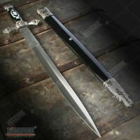 "29.75/"" Double Steel Blade Fantasy Dragon Dagger w// Claw Holding A Crystal Ball"