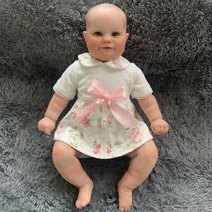20'' Reborn Dolls, Reborn Baby Girl Dolls with Cloth Body Hand-darwing Hair