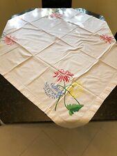 Vintage Floral Tablecloth 49x47