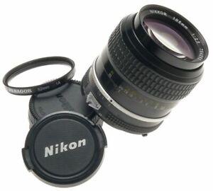 AI NIKKOR 105mm 1:2.5 FILTER CAPS 2.5/105mm NIKON SLR 35mm CAMERA LENS