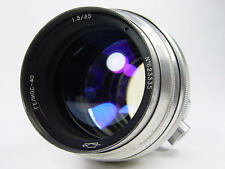 1962 made !! Early silver portrait Helios 40 1.5/85mm M42 M39. s/n 623335