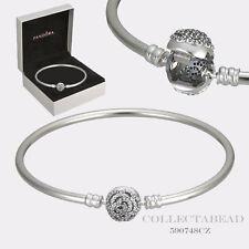 Authentic Pandora Disney Beauty & the Beast Silver Bangle with BOX 8.3  590748CZ