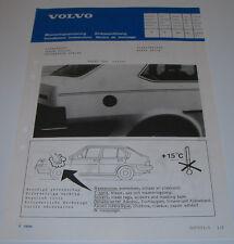 Einbauanleitung Volvo 340 343 360 Zierstreifen Dekor Stripe Stand September 1985