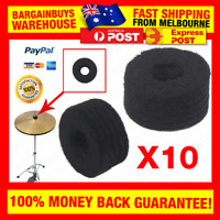 10pcs Cymbal Felt Washer Pad Drum Soft Cymbals Protective Pads Replacement Round