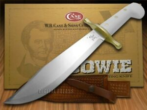 Case xx Bowie Knife Fixed Balde White Synthetic Handle Steel 02000