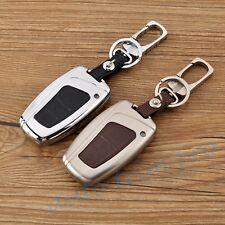 3 Button Key Shell Holder Case Fob Bag Chain For Hyundai Santa Fe IX45 2013-2017