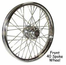 "19"" x 2.15"" Front Wheel Polished Stainless Steel 40 Spoke Harley Sportster 08-13"