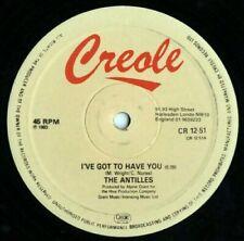 "12"" Boogie - FunkTHE ANTILLES – I've Got To Have You 1983 REISSUE"