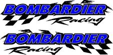 "Bombardier racing checker snowmobile 2 sticker decal set 5"" x 22"""