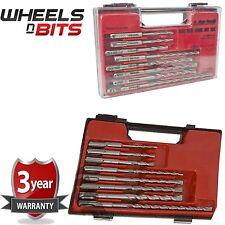 8 pc maçonnerie sds drill bit set boîtier de rangement professionnelle s'adapte à sds plus