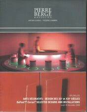 ARTS DECORATIFS DESIGN  CATALOGUE VENTE PIERRE BERGE 18/12/2008