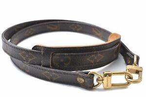 """Authentic Louis Vuitton Monogram Brown Shoulder Strap 38.6"""" LV E0780"""