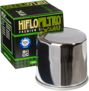 HifloFiltro Replacement Motorcycle Oil Filter (Chrome) HF204C